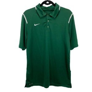 Nike Green Dri-Fit Polo Shirt Golf Tennis Sport M